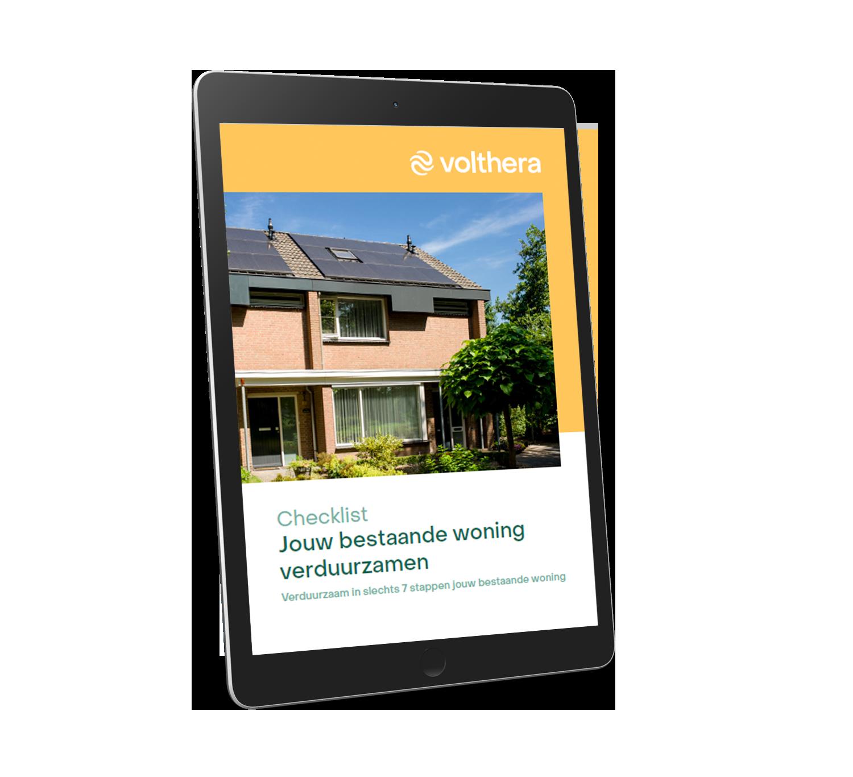 Mockup checklist bestaande woning verduurzamen